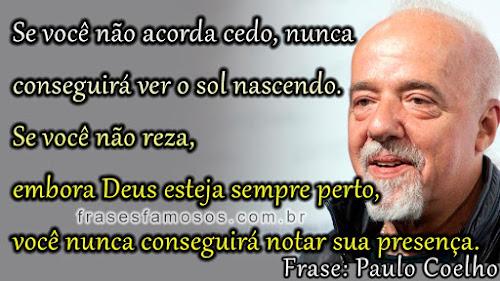 Frases Paulo Coelho sobre fé em Deus