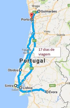 Portugal mapa