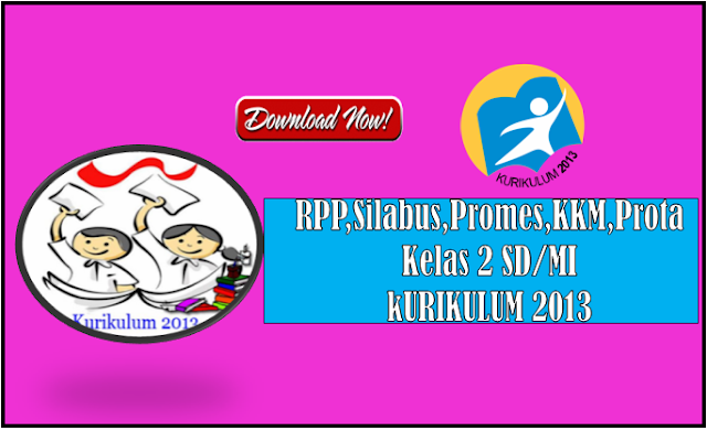 Download RPP Silabus Promes Prota KKM  Kurikulum 2013 Kelas 2 SD Semester 1 dan 2