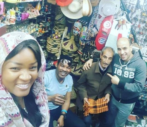 Omotola and Hubby Enjoying Their Vacation (Photos)