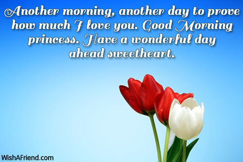 love messages: another morning, another day to prove how much i love you.