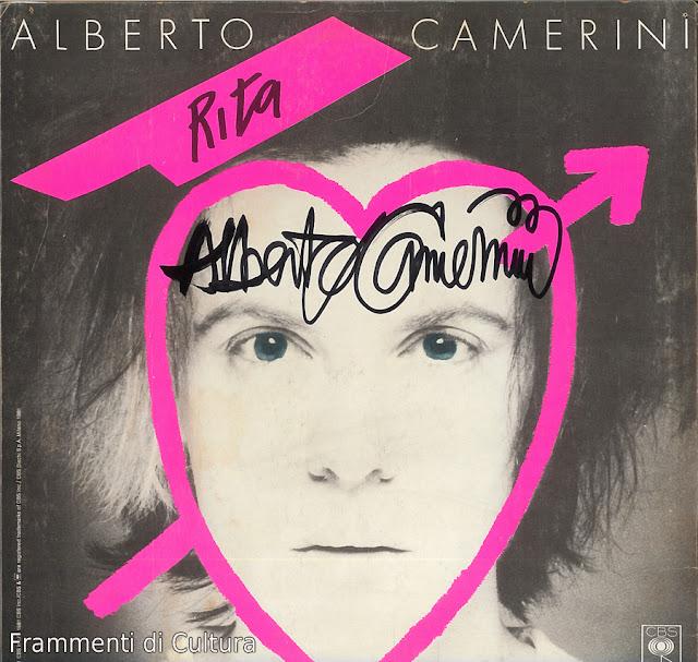 Albero Camerini autografo su album Rudy e Rita