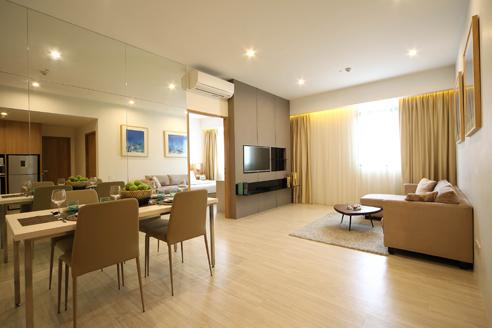 Hanson Court Suites 2BR - Living Dining