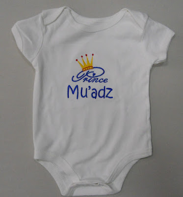 Romper with Prince and name embroidery by That Corner Shop