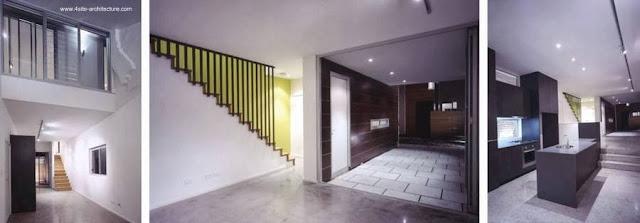 Vista interior de casa residencial urbana contemporánea en Australia