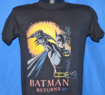 Batman Returns t-shirt. Image from thecaptainsvintage.com - they sell lots of cool vintage t-shirts. check em out!
