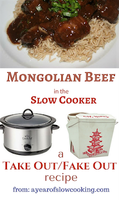Make Mongolian Beef at home with this gluten free family friendly recipe from ayearofslowcooking.com. Much healthier and less expensive, too!