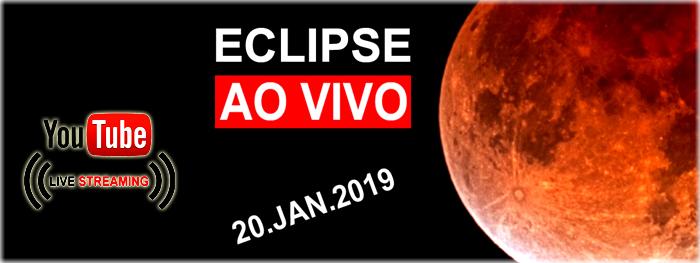 ao vivo eclipse lunar total no brasil - janeiro 2019