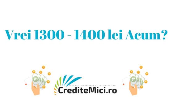 Credit 1300 lei sau 1400 lei imprumut rapid online