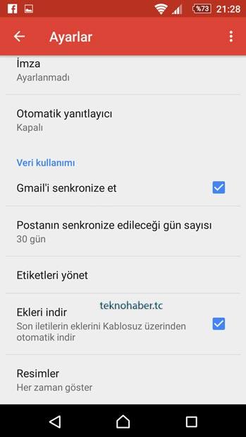 gmail bildirimler
