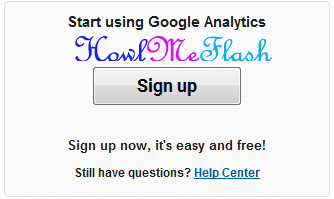 GOOGLE ANALYTICS SIGN IN UP