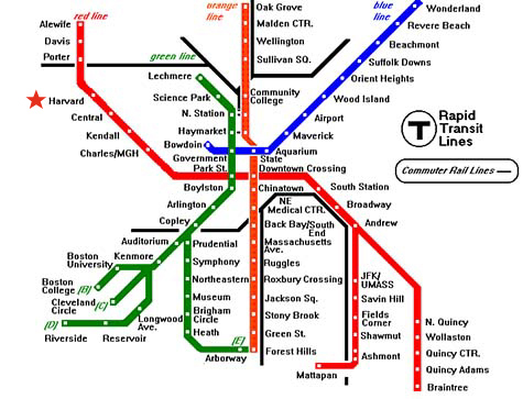 Image Result For Printable T Map Boston