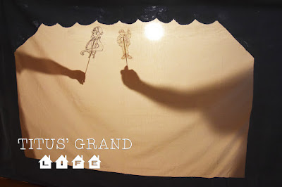 how to make a shadow puppet theater for kids