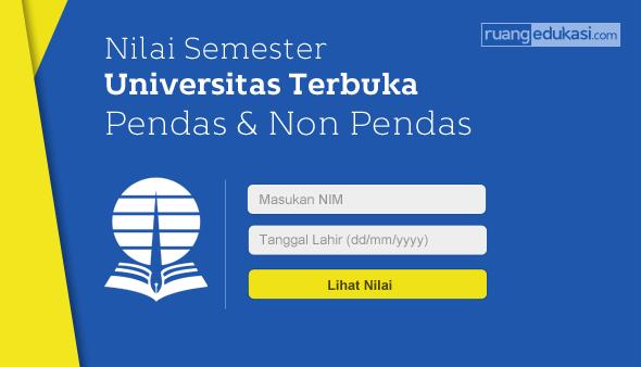 Nilai Ujian Universitas Terbuka 2018.1