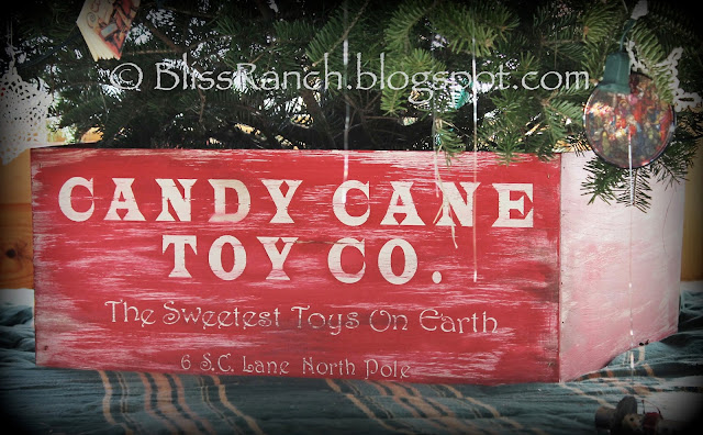 Faux Crate Christmas Tree Stand Cover