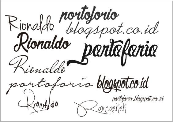 free download kumpulan font unik untuk watermark atau