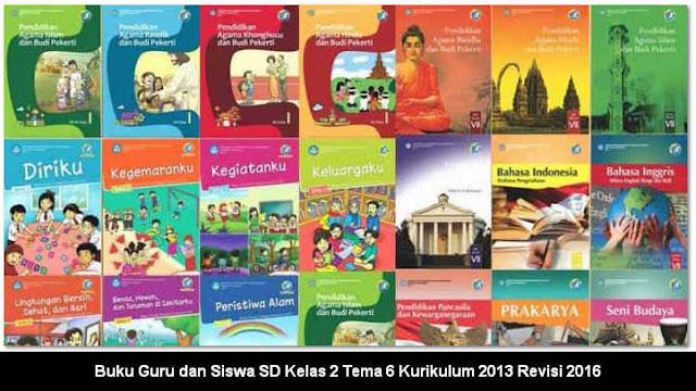 Buku Guru dan Siswa SD Kelas 2 Tema 6 Kurikulum 2013 Revisi 2016