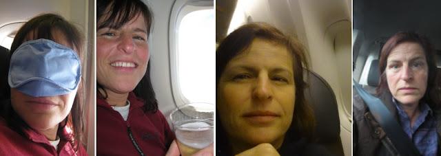 Selfies in Flugzeugen und im Taxi