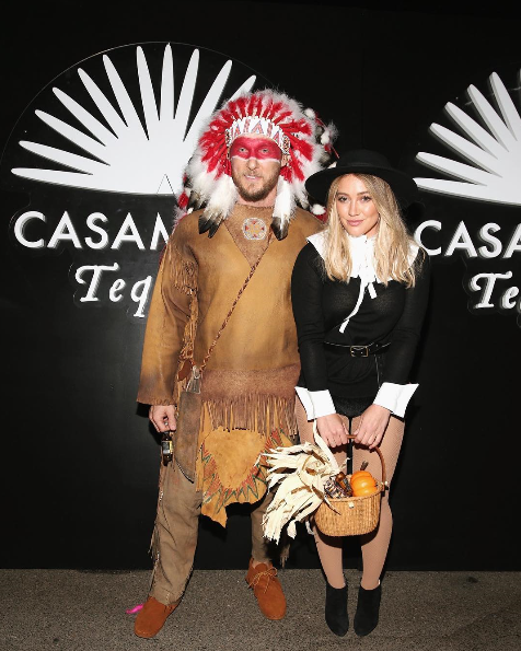 Hillary apologises for her Pilgrim costume and her boyfriend's American Indian Halloween costume