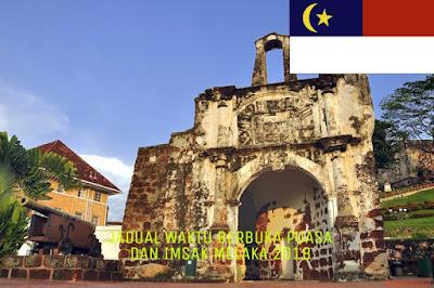 Jadual Waktu Berbuka Puasa dan Imsak Melaka 2018