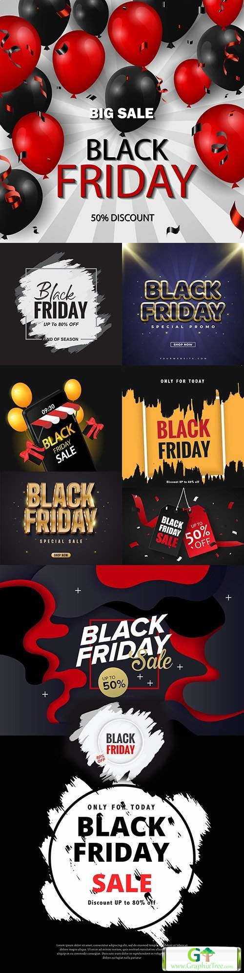 Black Friday and sale special design illustration 30