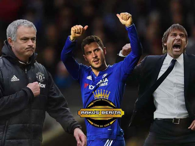 Hazard : Conte Lebih Handal Dalam Urusan Taktik Permainan Daripada Mourinho