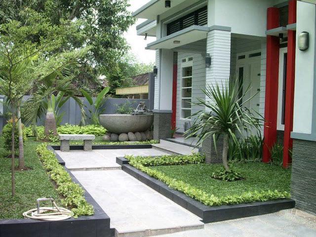 desain taman depan rumah minimalis