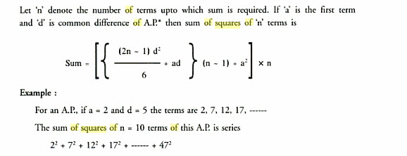Pat'sBlog: My Formula for Series of Squares of Arithmetic
