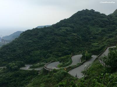 Golden waterfalls chute d'eau à Jinguashi, Taiwan