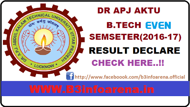 APJAKTU (AKTU / UPTU) Even SEM Result 2016-2017