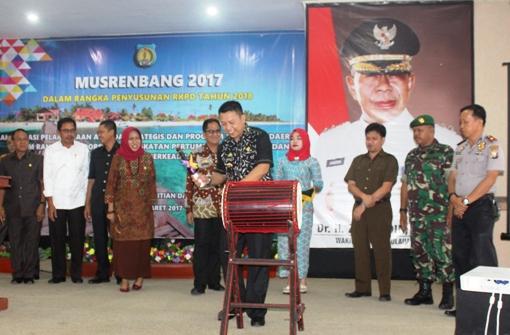 Bupati Kep.Selayar ,Buka Musrenbang, Dalam Rangka Penyusunan, RKPD 2018
