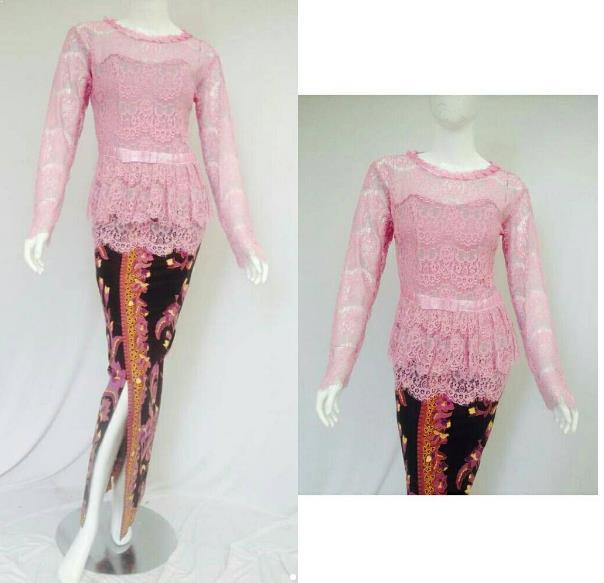 Desain Baju Batik Kombinasi Brokat: 40+ Model Baju Brokat Muslimah Paling Recomended