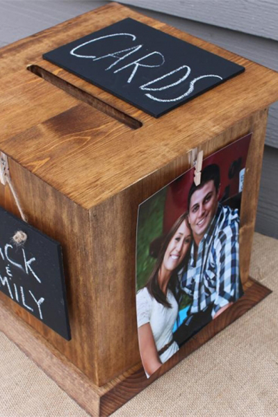 Rustic Photo Card Box