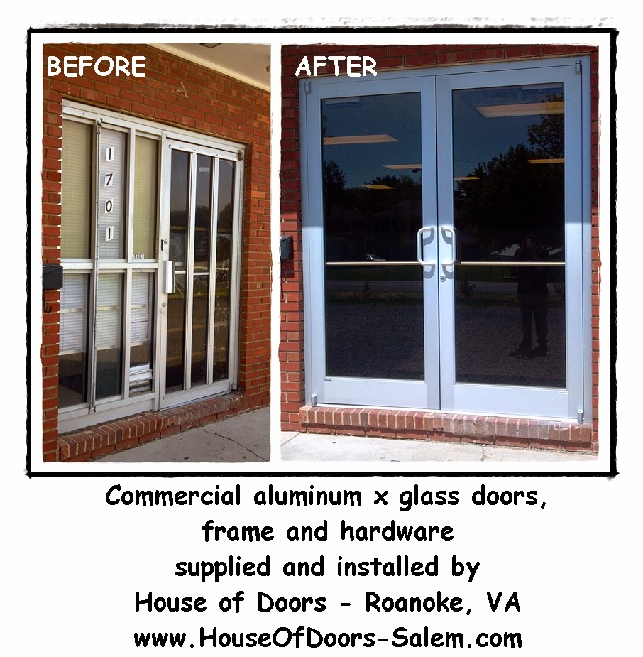 Storefront Aluminum x Glass Doors, Frames and Hardware supplied and ...