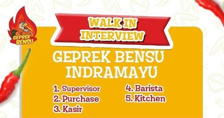 Loker Wawancara Kerja Di Geprek Bensu Indramayu Maret 2019