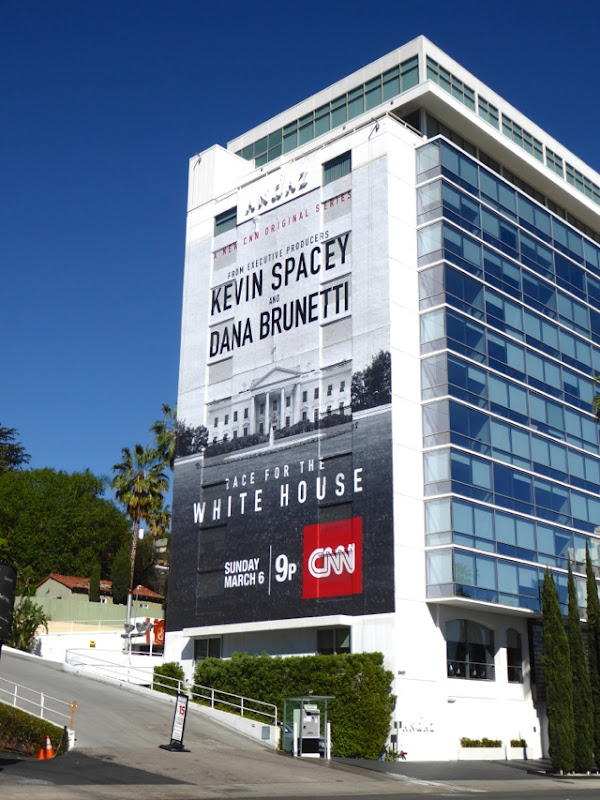 Race for the White House CNN series billboard