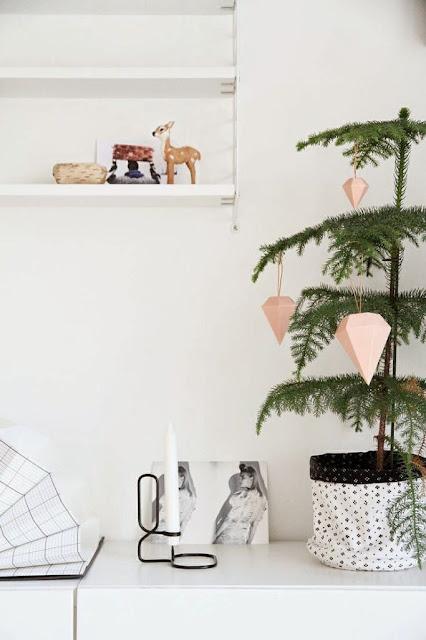 Inspiración para una decoración de Navidad nórdica