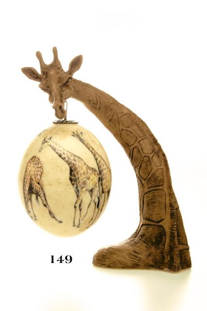 Ostrich Eggs Decoupage - Giraffe