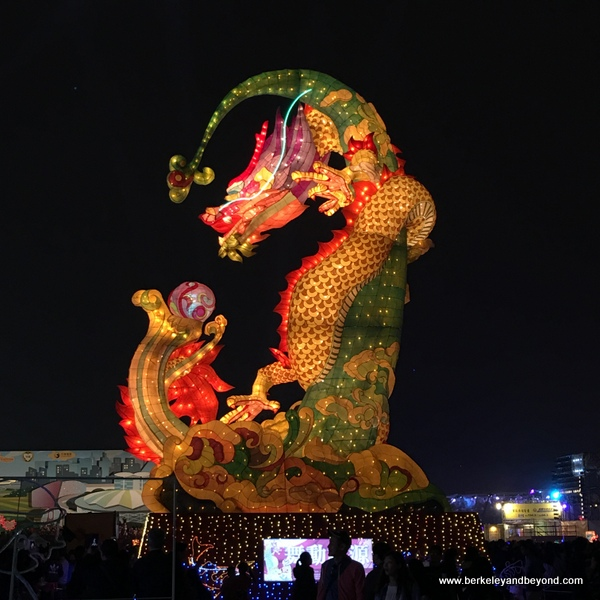 giant dragon lantern at Taiwan Lantern Festival 2016