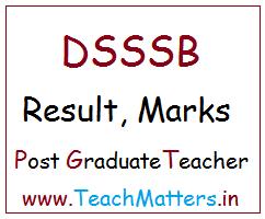 image : DSSSB PGT Result, Marks List @ TeachMatters
