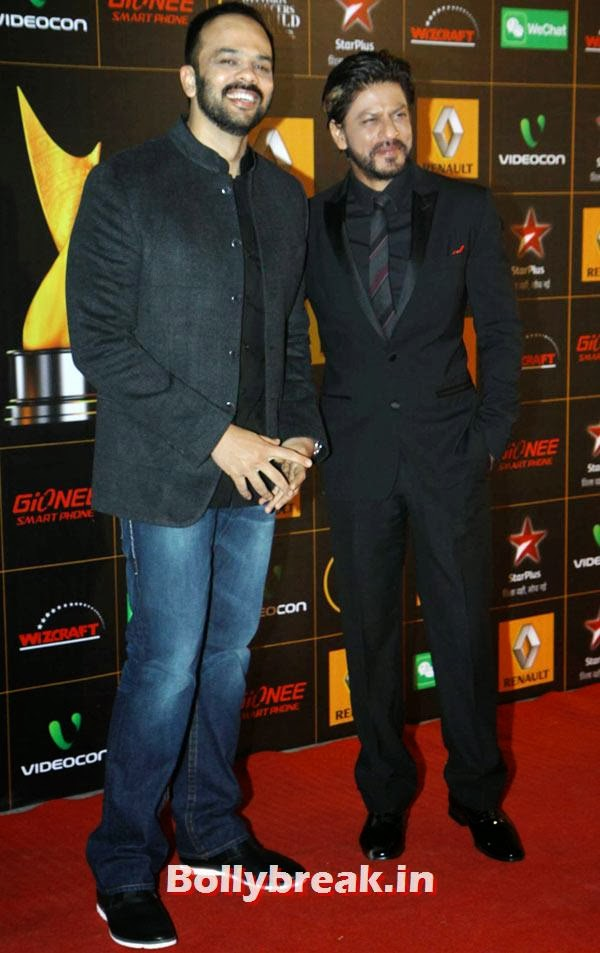 Shah Rukh Khan and Rohit Shetty, Star Guild Awards 2014 Pictures