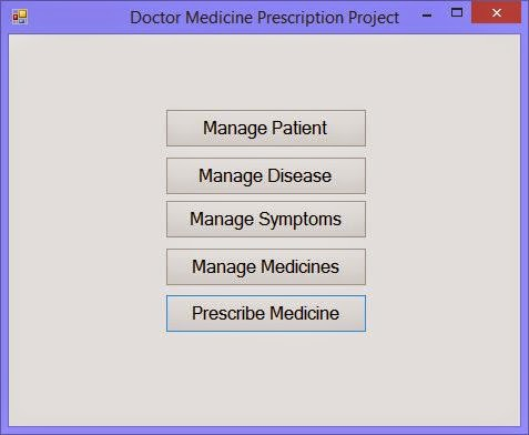 1. Manage list doctor medicine project