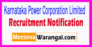 KPCL Karnataka Power Corporation Limited Recruitment Notification 2017 Last Date 18-08-2017