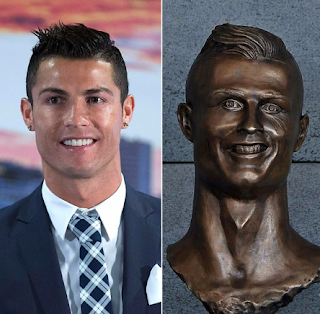 Cristiano Ronaldo's Airport Sculpture