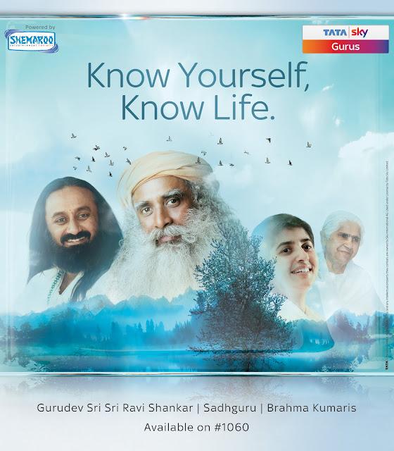 Tata Sky Gurus launched with leading spiritual gurus Gurudev Sri Sri Ravi Shankar, Sadhguru Jaggi Vasudev, Brahma Kumaris