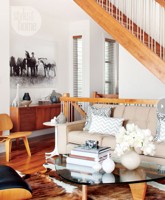 Mix And Chic: Home Tour- Rustic Mid-modern Century Home