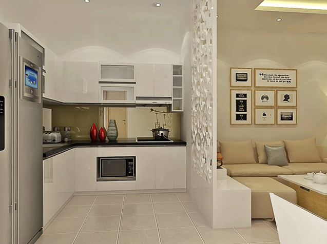 Image result for vách ngăn bếp và phòng khách