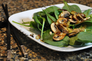 Spinach Salad with Warm Mushrooms