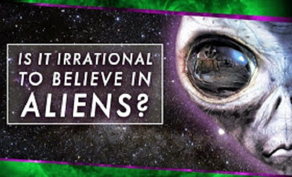 Irrational to Believe in Aliens