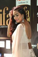 Prajna Actress in backless Cream Choli and transparent saree at IIFA Utsavam Awards 2017 0107.JPG